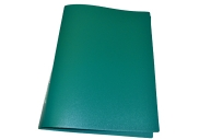 Папка с зажимом inФОРМАТ А4 зеленый пласт карман