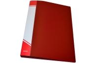 Папка с прижимами inФОРМАТ 1 зажим А4 красный пластик 0, 75 мм карман