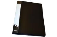 Папка с прижимами inФОРМАТ 1 зажим А4 черный пластик 0, 75 мм карман