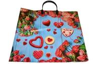 Пакет с пластм. ручк. Розовое сердце