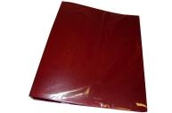 Папка с 2-кольцами InФОРМАТ А4 красный пластик 40мм