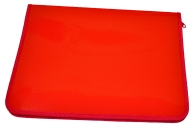 Папка д/тетр. А4+ молния пластик красная ПРОФ-ПРЕСС