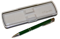 "Ручка футляр автомат ""Signature"" корп мет зелен/хром GIFTФОРМАТ SBP131"