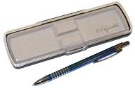 "Ручка футляр автомат ""Signature"" корп мет голуб/хром GIFTФОРМАТ SBP288/LB"