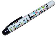 Ручка перьевая синяя 0. 8мм корпус ассорти с рисунком DEVENTE 5100701