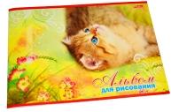 """Альбом д/рис. 20л., А4, на скрепке Hatber """"Котята"""""""