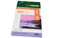 Фотобумага LOMOND д/струйной печати, A4, 170 г/м2, 100 л., двухсторонняя, матовая 0102006