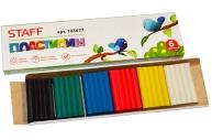 Пластилин классический STAFF 6 цв., 60г, картонная упаковка, 103677
