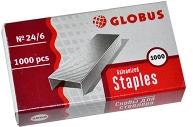 Скобы 24/6 GLOBUS, 1000 шт., высококачественная сталь
