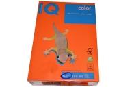 Бумага IQ color А4, 160 г/м, 250 л., интенсив оранжевая OR43 ш/к 01041 цена за 1 лист