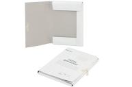 Папка для бумаг с завязками картонная мелованная BRAUBERG, 440г/м2, до 200 листов, 110925