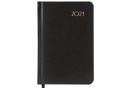 2021 Ежедневник датированный 2021 МАЛЫЙ ФОРМАТ (100х150мм) А6, BRAUBERG Select, балакрон, черный, 11