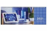 2021 Планинг датированный 2021 (285х112мм), STAFF, картонная обложка на спирали, 60л, Бизнес, 111829