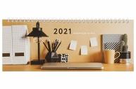 2021 Планинг датированный 2021 (285х112мм), STAFF, картонная обложка на спирали, 60л, Офис, 111831