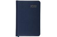2022 Ежедневник датированный 2022 МАЛЫЙ ФОРМАТ 100х150мм А6, BRAUBERG Select, балакрон, т-синий, 112