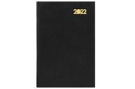 2022 Ежедневник датированный 2022 (145х215 мм), А5, STAFF, твердая обложка бумвинил, черный, 113339