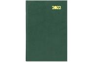 2022 Ежедневник датированный 2022 (145х215 мм), А5, STAFF, твердая обложка бумвинил, зеленый, 113340