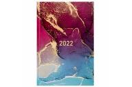 2022 Ежедневник датированный 2022 (145х215мм), А5, STAFF, ламинированная обложка, Marble, 113343