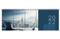 """2022 Планинг датированный 2022 (285х112 мм), STAFF, гребень, картонная обложка, 60 л., """"Мегаполис"""","""