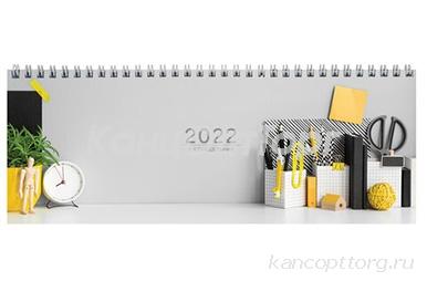 """2022 Планинг датированный 2022 (285х112 мм), STAFF, гребень, картонная обложка, 60 л., """"Офис"""", 11335"""