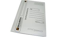 Скоросшиватель карт. мел. BRAUBERG, гарант. пл. 320г/кв. м., белый, до 200л.