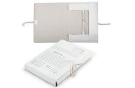 Папка для бумаг 4 завязки картонная, 40 мм, гарантированная плотность 380 г/м2, до 350