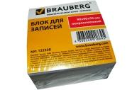 Блок для записей BRAUBERG непроклеенный, 9*9*5, белый, 122338