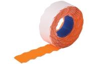 Этикет-лента 22*12мм волна, оранжевая, 800 шт/рул., BRAUBERG