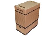 Накопитель документов, Лоток-коробка BRAUBERG, 150 мм, бурый, до 1400л., 124849