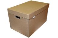 """Короб архивный """"Делопроизводство"""" (в29, 5ш48г32, 5, см), откидная крышка, картон, бурый"""