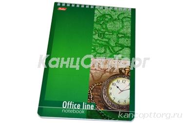 Блокнот А5 60л., спираль, жест. подлож., HATBER, Office Line, 145*205мм, 60Б5B1сп (B014042)