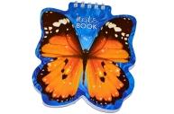 Блокнот А6 60л., гребень, фигурная высечка, HATBER, Бабочка, 60Б6Aгр_09680 (B136126)