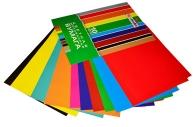 Цветная бумага А4 мелованная, 10л. 10цв., в папке, HATBER Creative, 195х280мм, 10Бц4м_05930 (N050842)