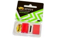 Закладки самоклеящиеся POST-IT Study, пластиковые, 25 мм, 22 шт., красные, 680-R-LRU