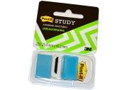 Закладки самоклеящиеся POST-IT Study, пластиковые, 25 мм, 22 шт., синие, 680-BB-LRU