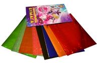 """Цветная бумага, А4, голографическая, 10 листов, 10 цветов, HATBER, """"Барби"""", 195х285 мм, 10Бц4гф 15523, N221150"""