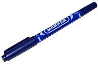 Маркер перманентный, двухсторонний, круглый, 2 мм/0. 7 мм, синий