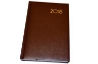 Ежедневник датированный 2018 А5, BRAUBERG Select, кожа классик, коричневый, 138*213мм, 128145