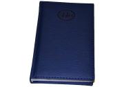 Ежедневник датированный 2018 А6, BRAUBERG Favorite, фактурная кожа, темно-синий, 100*150мм