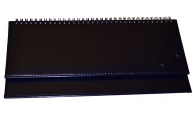 Планинг настольный датированный 2018 BRAUBERG Imperial, гладкая кожа, крем. блок, синий, 305*140мм