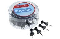 Кнопки силовые, чёрные, 40 штук, в пластиковой коробке, CALLIGRATA
