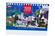 2019 Календарь-домик HATBER, на гребне, 160х105мм, горизон., Путешествие, 12КД6гр_13727 (K281611)