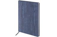 2020 Еженедельник датированный 2020 А4, BRAUBERG Wood, кожзам, синий, 129640