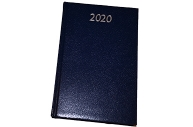 2020 Ежедневник датированный 2020 А5, BRAUBERG Profile, фактурная кожа, синий, 138*213мм, 129708