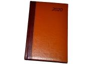2020 Ежедневник датированный 2020 А5, BRAUBERG Prestige, комбинированный, коричневый/горчичный, 138*2