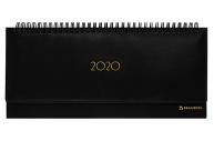 """2020 Планинг настольный датированный BRAUBERG """"Select"""", кожа классик, черный, 305х140 мм, 12976"""