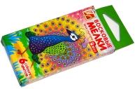 """Восковые мелки 6цв, шестигранные, ЛУЧ """"Zoo"""", картонная упаковка с европодвесом,"""
