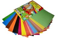 Набор для детского творчества А4, 8 листов картон цветной + 8 листов бумага цветная двухсторонняя, «