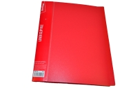 """Папка с зажимом 17мм, 700мкм, красная, Berlingo """"Standard"""""""