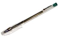 """Ручка гелевая зеленая BRAUBERG """"Jet"""", корпус прозрачный, толщина письма 0,5 мм,"""